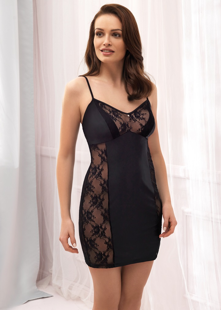 VANILLA Black Lace Nightdress