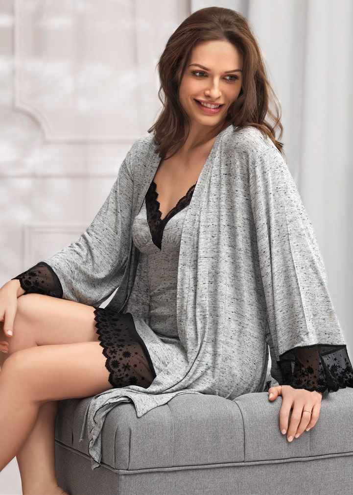 VANILLA Dressing Gown - Grey